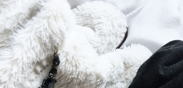 Snuggly Slipper Booties- White & Grey