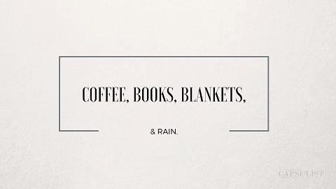 Preview Of Coffee, Books, Blankets & Rain- Free Desktop Wallpaper Download- The Capsulist