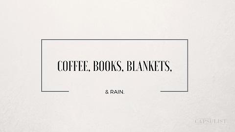Preview Of Coffee, Books, Blankets & Rain- Free Desktop Wallpaper Download- The Capsulist