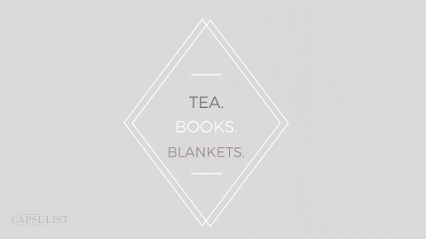 Preview Of Tea Books Blankets- Free Desktop Wallpaper Download- The Capsulist
