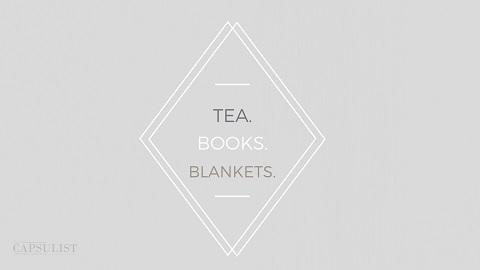 Preview Of Tea Books Blankets- Free Desktop Wallpaper Download- The Capsulist